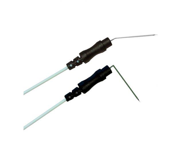 Needle electrode steel with angle